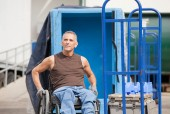 white male in wheelchair